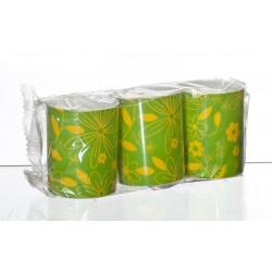 Świeca FLOWER  zielony/żółty  3szt.