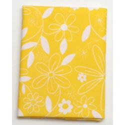 Serweta 80x80 cm  FLOWER  żółty/biały
