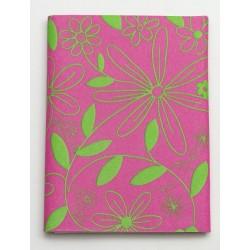 Serweta 80x80 cm  FLOWER  różowy/zielony