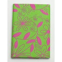 Serweta 80x80 cm  FLOWER  zielony/różowy