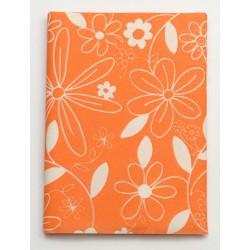 Serweta 80x80 cm  FLOWER  pomarańczowy/biały