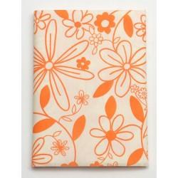 Serweta 80x80 cm  FLOWER  biały/ pomarańczowy