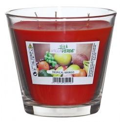 Swieczka zapachowa w szkle 3xknot transp d12 h11cm TROPICAL-MANGO