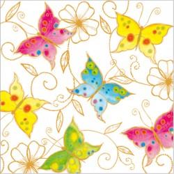 Serwetki Kolorowe Motyle 33x33cm 20szt.