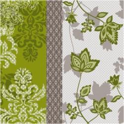 Serwetki New Look green/gray 33x33 cm 20szt