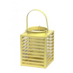 Latarnia metalowa STRIPE 14x14x19 żółta