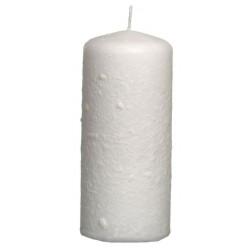 Świeca walec Aksamit 110/50 śnieżnobiały