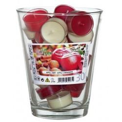 Zestaw Podgrzewaczy Zapachowych w szklanej wazie | Jabłko/Cynamon | 30 szt.