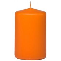 Swieca walec ok. 50/80mm pomaranczowa w celofanie