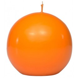 Swieca kula ok. d80mm pomaranczowa w opakowaniu
