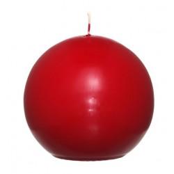 Swieca kula ok. d100mm czerwona w opakowaniu