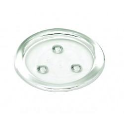 Szklany talerz transp. d11cm okragly