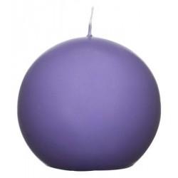 Świeca kula ok. d78mm fioletowa w celofanie.