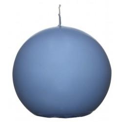 Świeca kula ok. d78mm jasnoniebieska w celofanie.