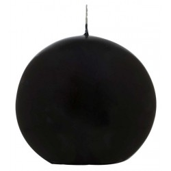 Świeca kula ok. d78mm czarna w celofanie.