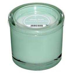 Świeczka w szklanym cylindrze Heavy d9 h8 cm mięta