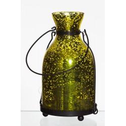 Lampion latarnia d11 h18,5cm rustik żółty lustrzany