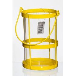 Lampion metalowy d11 h17 cm żółty