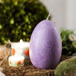 """Świeca jajo ręcznie zdobiona """"Flider"""" 120x75mm"""