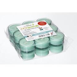 Opakowanie 18 zapachowych podgrzewaczy ECL (9x wkład + 9x w transparentnym kubku) (6h)  ŚWIEŻOŚĆ BAWEŁNY