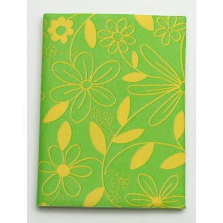 Serweta 80x80 cm  FLOWER  zielony/żółty