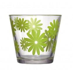 """Szkło stożkowe """"KWIATY"""" d12 h11cm zielony"""