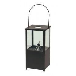 Met. latarnia czarna z lampą naftową 19x19x40cm