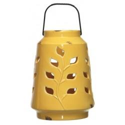 Latarnia ceramiczna DOTS 18.5x26cm żółty