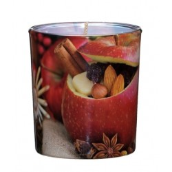 Świeca Zapachowa w Szkle | Sleeve | Jabłko-Cynamon | 24 H
