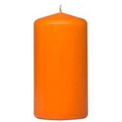 Świeca walec  | Pomarańczowa | w celofanie | 60 H