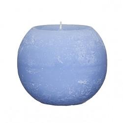 Świeca Rustykalna kula 100mm jasnoniebieski
