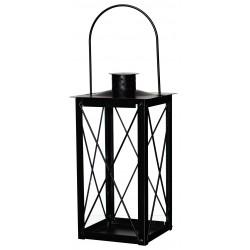 Metalowa latarnia czarna 13x13 h26cm