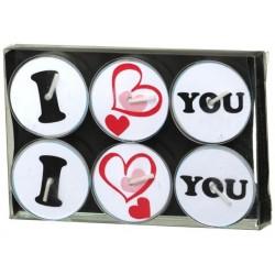 Podgrzewacz |  DecoLight | I Love You | 6 szt. | 4 H