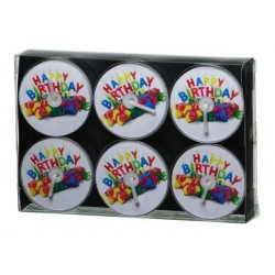 "Tealight Decolight ""Happy Birthday"" (6 szt.)"
