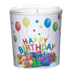 """Świeca w Szkle Sleeve """"Happy Birthday"""" (1 szt.)"""