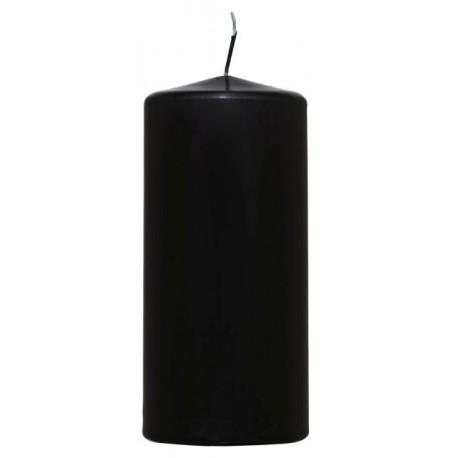 Świeca walec 68/150mm czarna w celofanie.