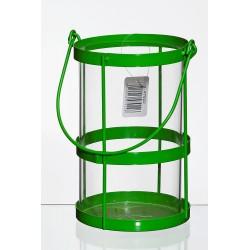 Lampion metalowy d11 h17 cm zielony