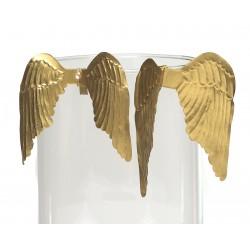 Skrzydła na szklankę Złote 8,5x7,5cm / 9,5X9,5cm
