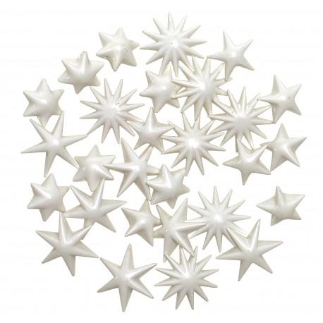 Gwiazdki dekoracyjne Białe