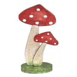 Drewniane grzybki dekoracyjne
